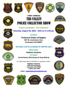 California Police Sheriff Patch Trade List