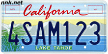 Lake Tahoe license plate
