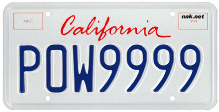 california license plates optional issues. Black Bedroom Furniture Sets. Home Design Ideas