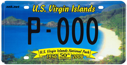 U.S. Virgin Islands National Park license plate